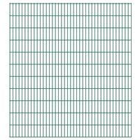 vidaXL 2D Garden Fence Panels 2.008x2.23 m 46 m (Total Length) Green