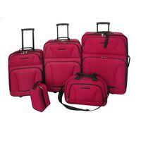 vidaXL Five Piece Travel Luggage Set Red