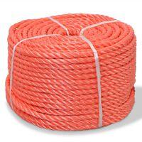 vidaXL Twisted Rope Polypropylene 12 mm 500 m Orange