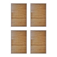 vidaXL Bamboo Bath Mats 2 pcs 60 x 90 cm Brown