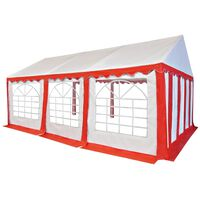 vidaXL Garden Marquee PVC 4x6 m Red and White