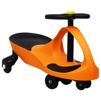 vidaXL Ride on Toy Wiggle Car Swing Car with Horn Orange