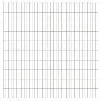 vidaXL 2D Garden Fence Panels 2.008x2.03 m 40 m (Total Length) Silver