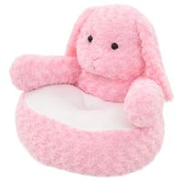 vidaXL Rabbit Cuddly Toy Plush Pink