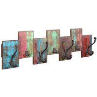 vidaXL Coat Rack with 7 Hooks Solid Reclaimed Wood