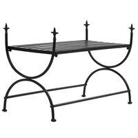 vidaXL Bench Vintage Style Metal 83x42x55 cm Black