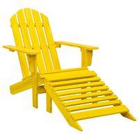 vidaXL Garden Adirondack Chair with Ottoman Solid Fir Wood Yellow