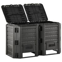 vidaXL Garden Composter Black 800 L