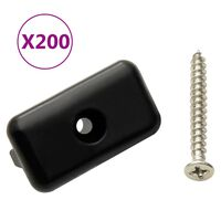 vidaXL Decking Clips with Screws 200pcs Plastic and Stainless Steel304