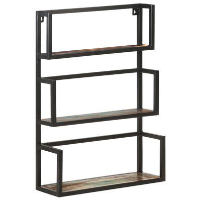 vidaXL Wall Shelf 60x20x85 cm Solid Reclaimed Wood