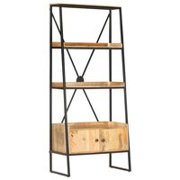 vidaXL 4-Tier Bookshelf 80x39x180 cm Solid Mango Wood