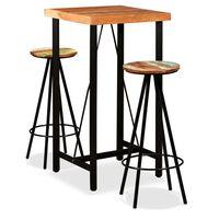 vidaXL Bar Set 3 Pieces Solid Acacia and Reclaimed Wood