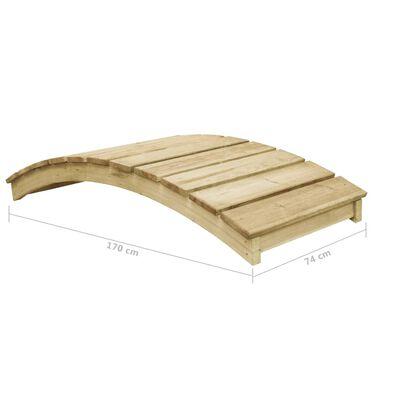 vidaXL Garden Bridge 170x74 cm Impregnated Pinewood