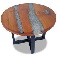 vidaXL Coffee Table Teak Resin 60 cm