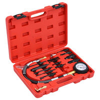 vidaXL 14 Piece Diesel Compression Gauge Test Kit