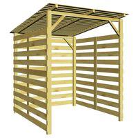 vidaXL Garden Firewood Storage Shed Impregnated Pinewood