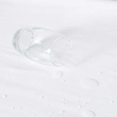 vidaXL Fitted Sheets Waterproof 2 pcs Cotton 120x200 cm White