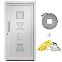 vidaXL Front Door White 108x208 cm