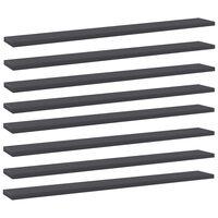 vidaXL Bookshelf Boards 8 pcs Grey 80x10x1.5 cm Chipboard