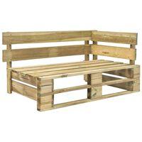 vidaXL Garden Pallet Corner Bench Wood