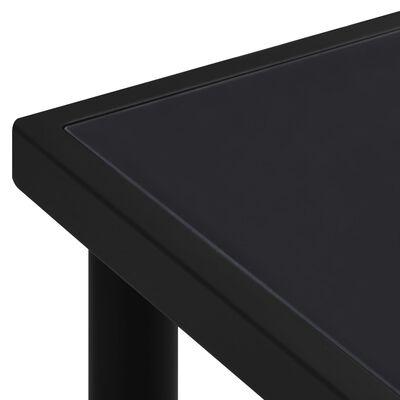 vidaXL Garden Table 190x90x74 cm Black Steel