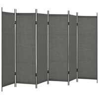 vidaXL 6-Panel Room Divider Anthracite 300x180 cm