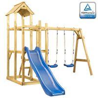 vidaXL Playhouse with Slide Swing Ladder 285x305x226.5 cm