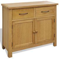 vidaXL Sideboard 90x33.5x83 cm Solid Oak Wood