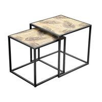 Urban Living - Set Of 2 Side Tables Ibiza - Black