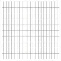 vidaXL 2D Garden Fence Panels 2.008x2.03 m 24 m (Total Length) Silver