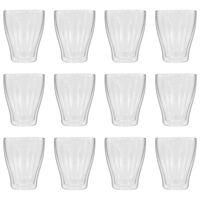 vidaXL Double Wall Latte Macchiato Glasses 12 pcs 370 ml