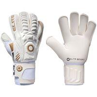 Elite Sport Goalkeeper Gloves Real Size 7 White