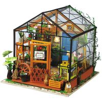 Robotime DIY Miniature Kit Cathy's Flower House with LED Light