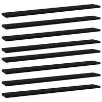 vidaXL Bookshelf Boards 8 pcs Black 80x10x1.5 cm Chipboard