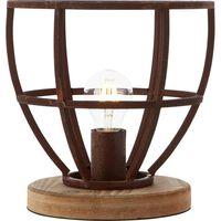 "Brilliant - Table lamp ""Matrix"" rural - Rust/wood"