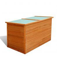 vidaXL Garden Storage Box 126x72x72 cm Wood