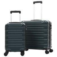 vidaXL Hardcase Trolley Set 2 pcs Green ABS
