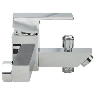 vidaXL Bath Mixer with Thermostat Chrome