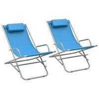 vidaXL Rocking Chairs 2 pcs Steel Blue