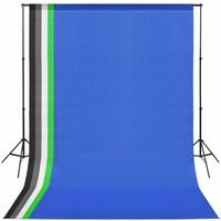 vidaXL Photo Studio Kit with 5 Coloured Backdrops and Adjustable Frame