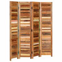 vidaXL Room Divider Solid Reclaimed Wood 170 cm