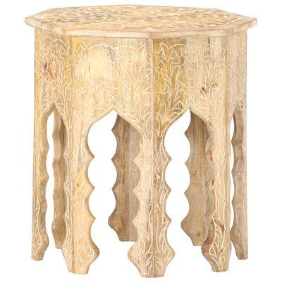 vidaXL Side Table Ø48 cm Solid Mango Wood