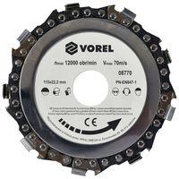 VOREL Chain Disc 115x22.2mm