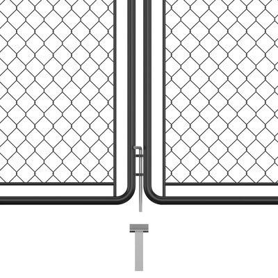 vidaXL Garden Gate Steel 200x350 cm Anthracite