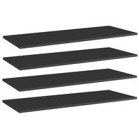 vidaXL Bookshelf Boards 4 pcs High Gloss Black 100x40x1.5 cm Chipboard