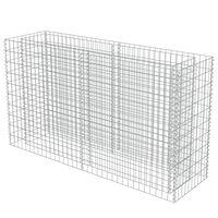 vidaXL Gabion Raised Bed Galvanised Steel 180x50x100 cm