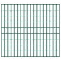 vidaXL 2D Garden Fence Panels 2.008x1.83 m 34 m (Total Length) Green