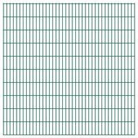 vidaXL 2D Garden Fence Panels 2.008x2.03 m 18 m (Total Length) Green