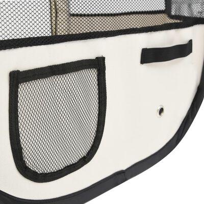 vidaXL Foldable Dog Playpen with Carrying Bag Blue 125x125x61 cm