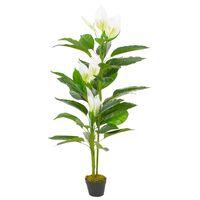 vidaXL Artificial Plant Anthurium with Pot White 155 cm